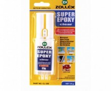 ZOLLEX adhesive EPOXY clear - glass