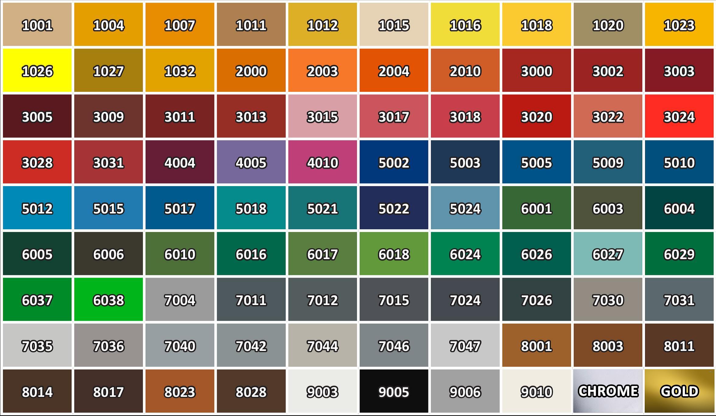 Paint Colors For Car >> DECO BLIK RAL | Deco Blik paint | Products | ZOLLEKS AVTO d.o.o.